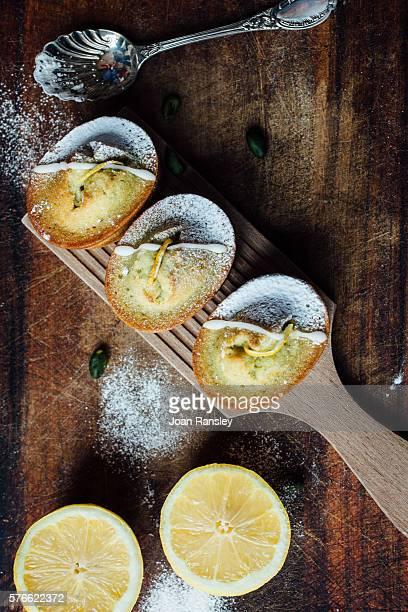 Lemon and pistachio financiers