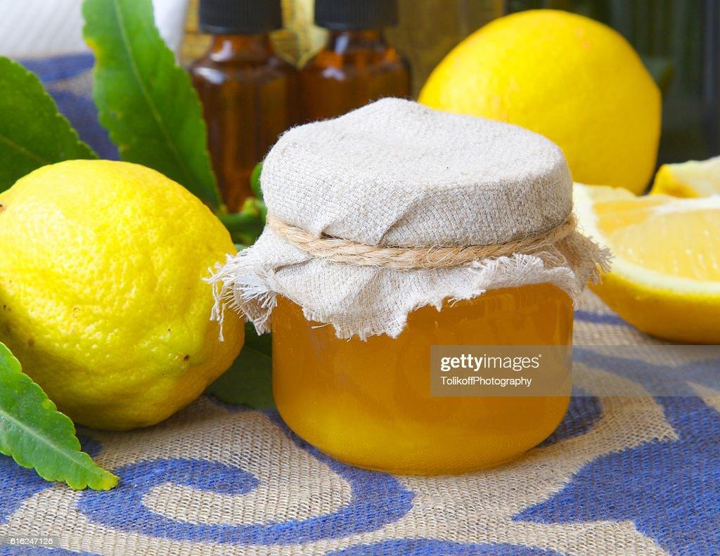 Lemon blossom honey : Foto de stock