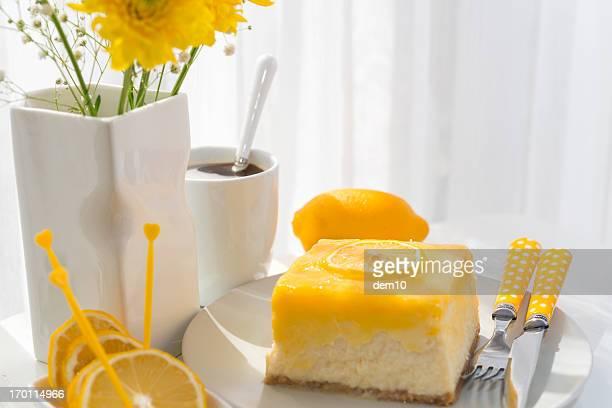 cheesecake au citron tranche