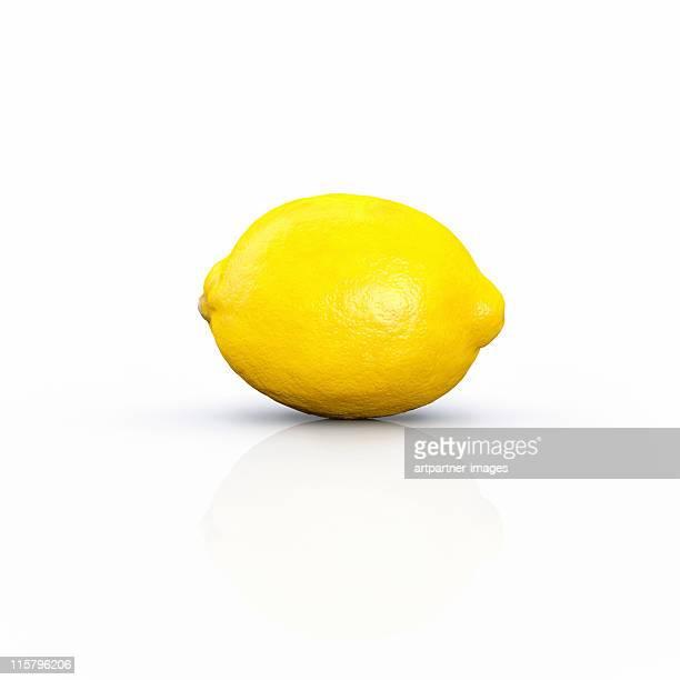 lemon, citrus limon on white - lemon stock pictures, royalty-free photos & images