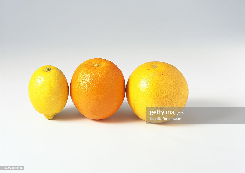 Lemon, orange and grapefruit : Stockfoto