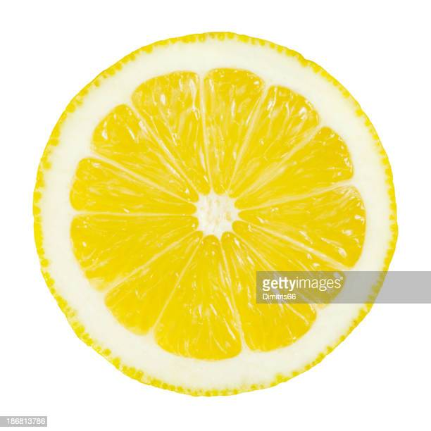 lemon portion on white - cross section stock pictures, royalty-free photos & images