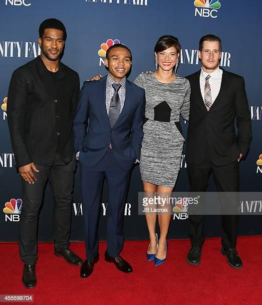 R Lemon Robert Bailey Jr Jeananne Goossen and Brenden Fehr attend the NBC And Vanity Fair 20142015 TV Season Red Carpet Media Event on September 15...