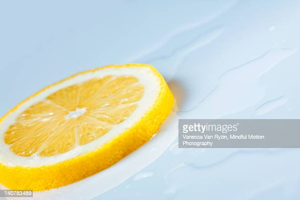 lemon slice - vanessa van ryzin stock photos and pictures