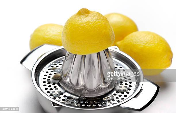 Lemon squeezer and lemons
