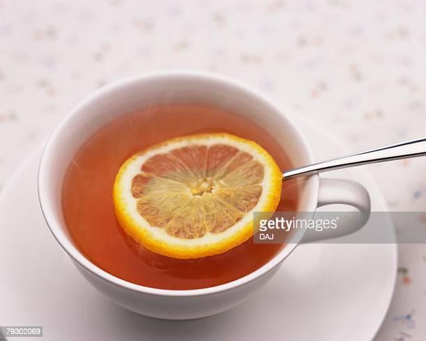 Lemon Tea, High Angle View, Full Frame, Differential Focus
