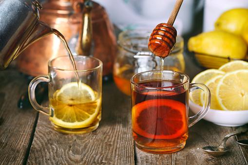 Lemon Tea with honey. - gettyimageskorea