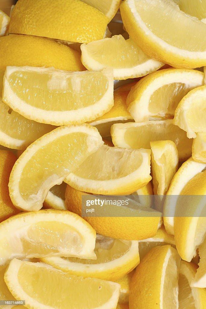 Lemon Wedges : Stock Photo