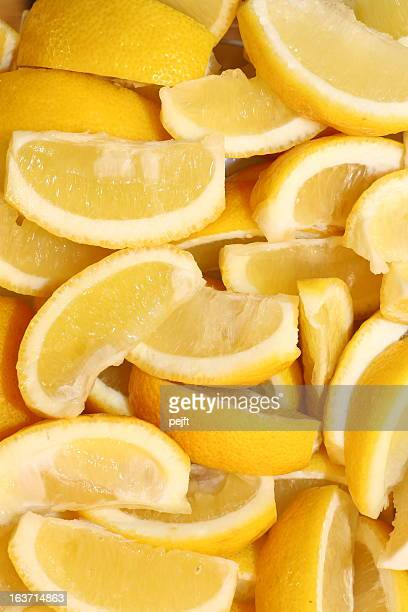lemon wedges - pejft stock pictures, royalty-free photos & images