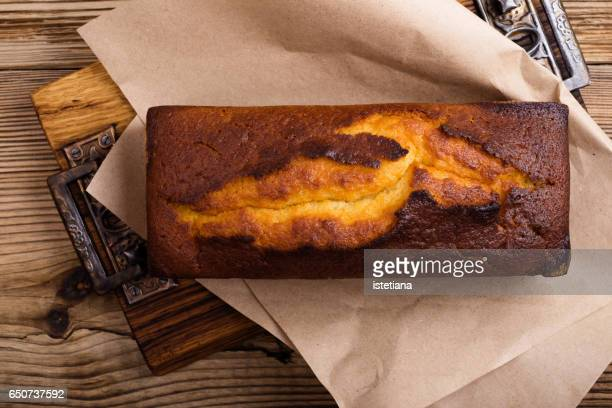 lemon yogurt cake baked in loaf pan - sponge cake stock pictures, royalty-free photos & images