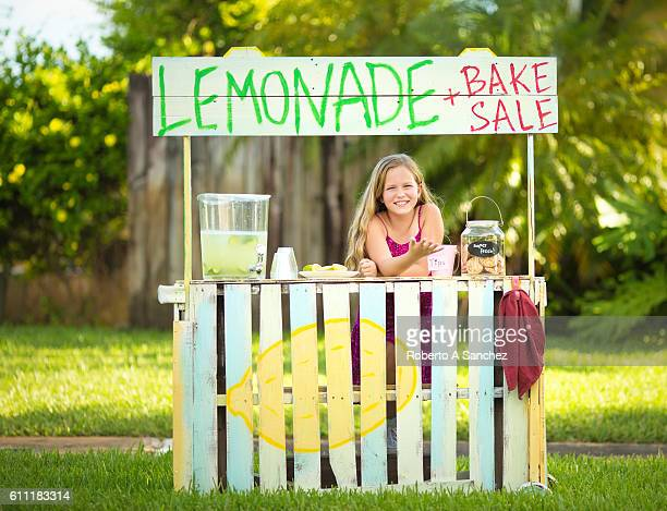 Lemonade and home baked cookies here