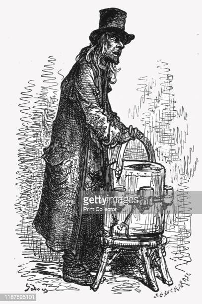 Lemonade Vendor' 1872 From LONDON A Pilgrimage by Gustave Dore and Blanchard Jerrold [Grant and Co 7278 Turnmill Street EC 1872] Artist Gustave Doré