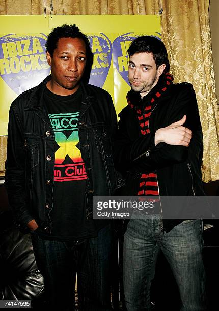 Lemonheads drummer Devon Ashley and Jeremy Radway arrive at the Ibiza Rocks with Sony Ericsson launch party at The Lock Tavern Camden on May 14 2007...