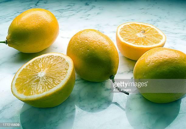 Lemons on marble