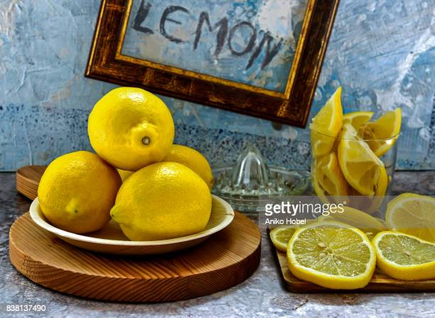 lemons - aniko hobel stock pictures, royalty-free photos & images