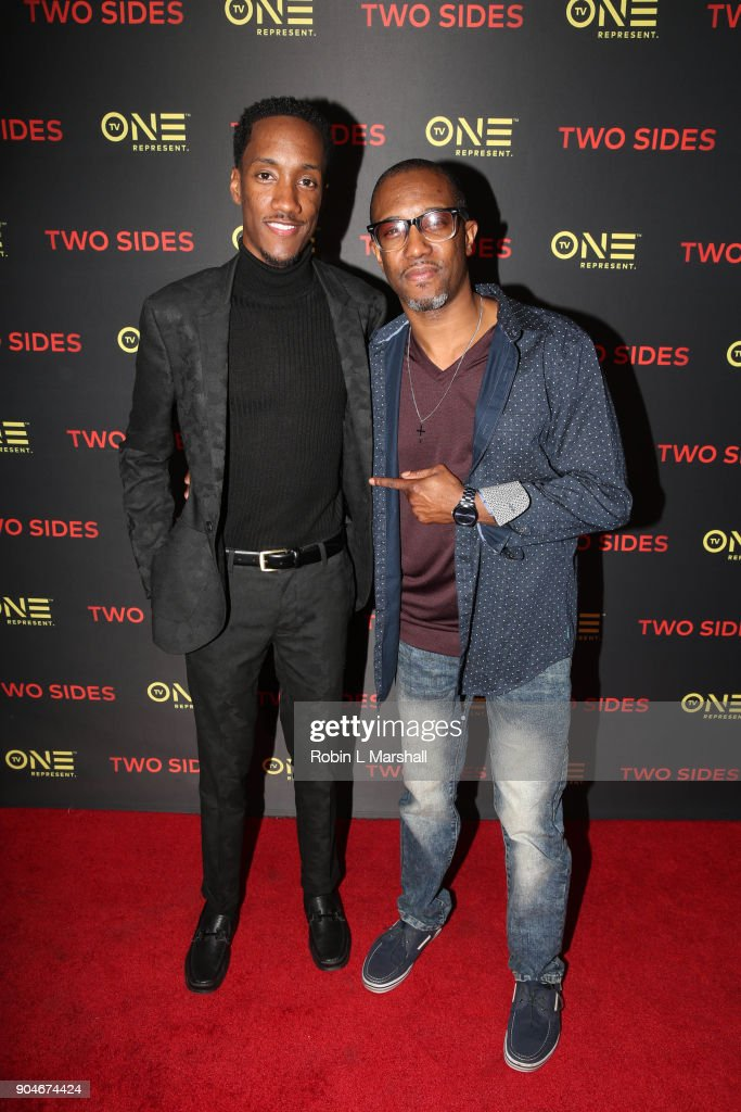 Lemuel and Le'John Plummer attend the NAACP Screening and Social Justice Summit for TV One's 'Two Sides' at First AME Church on January 13, 2018 in Los Angeles, California.