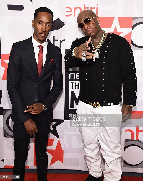 Lemuel Plummer and rapper Birdman attend BET Networks 2016 Upfront at Rose Hall at Jazz at Lincoln Center on April 20 2016 in New York City