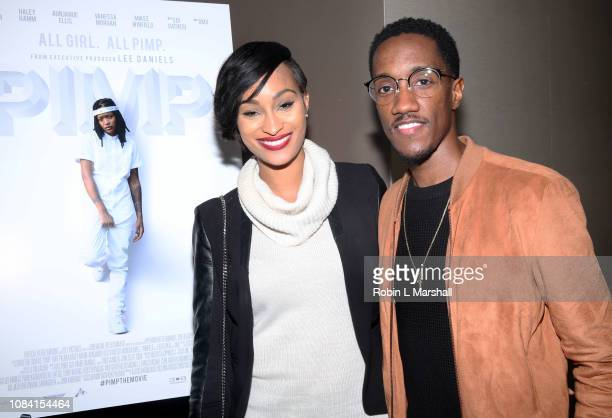 Lemuel Plummer and wife attend NAACP Image Awards Screening of 'PIMP' on December 17 2018 in Los Angeles California