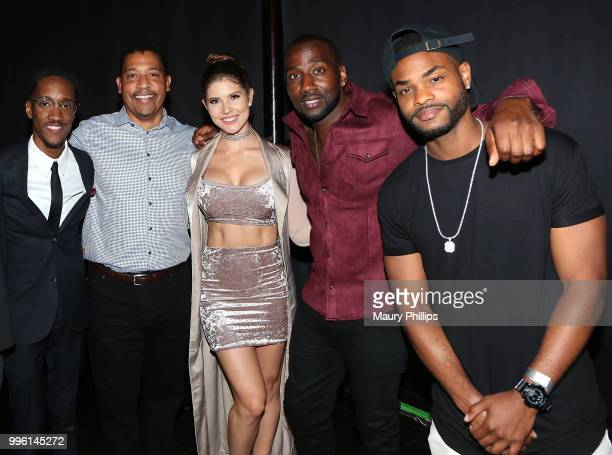 Lemuel Plummer David White Amanda Cerny Destorm Power and King Batch attend a celebration for The July 13th Global Launch of ZEUS presented by...