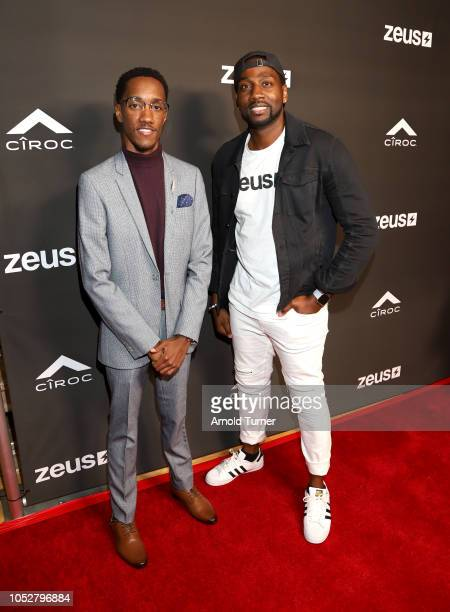 Lemuel Plummer Founder/CEO of Zeus Network and DeStorm Power President of Zeus Network attend the ZEUS New Series Premiere Party X CIROC Black...