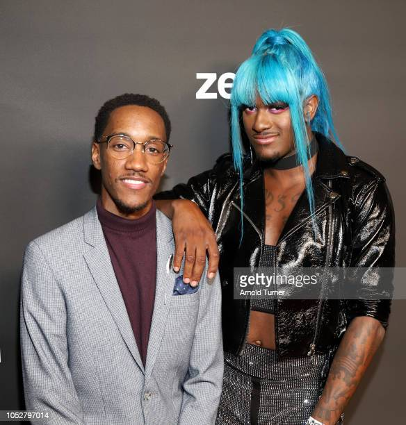 Lemuel Plummer Founder/CEO Zeus Network and Kwaylon Rogers aka ìTiTiî attend the ZEUS New Series Premiere Party X CIROC Black Raspberry on October 19...