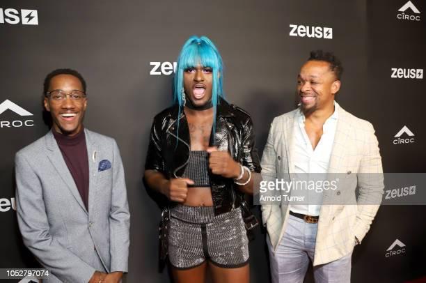 Lemuel Plummer Founder/CEO Zeus Network Kwaylon Rogers aka ìTiTiî and Shane Norman attend the ZEUS New Series Premiere Party X CIROC Black Raspberry...