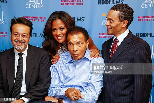 Len Amato Laila Ali Muhammad Ali and Donald Lassere appear as HBO Films and the Muhammad Ali Center cohost the US Premiere of 'Muhammad Ali's...