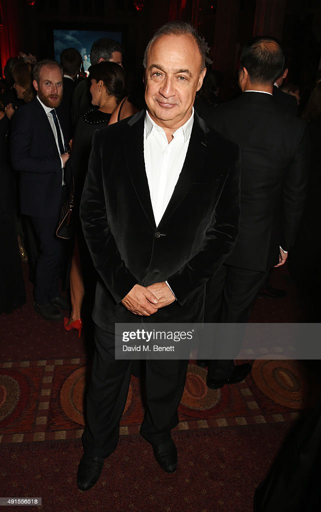 Len Blavatnik attends a cocktail reception at the BFI Luminous Fundraising Gala in partnership with IWC and crystals by Swarovski at The Guildhall on October 6, 2015 in London, England.
