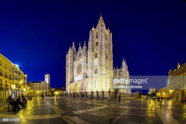 León Cathedral at Blue hour