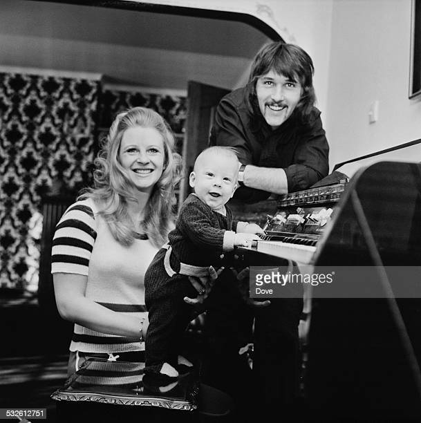 Len 'Chip' Hawkes of The Tremeloes with his wife actress Carol Dilworth and son Chesney 10th February 1972