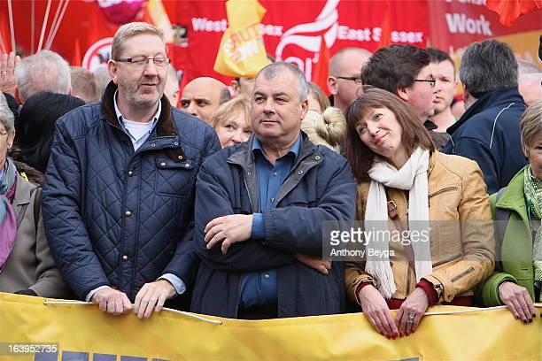 Len McCluskey, Brendan Barber, Frances O'Grady lead the A Future That Works Demo. More than 150,000 people marched through London on October 20th...