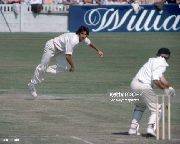 Len Pascoe of Australia bowling to Mike Brearley of England during the 1st Prudential Trophy One Day International between England and Australia at...