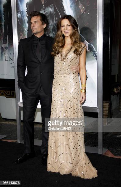 Len Wiseman and Kate Beckinsale at the Los Angeles Premiere of 'Underworld Awakening' held at the Grauman's Chinese Theatre in Los Angeles USA on...