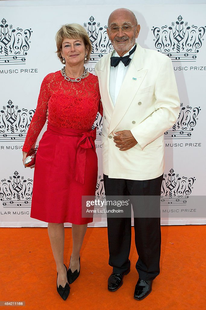 Lena Adelsohn Liljeroth and Ulf Adelsohn attend Polar Music Prize at Stockholm Concert Hall on August 26, 2014 in Stockholm, Sweden.