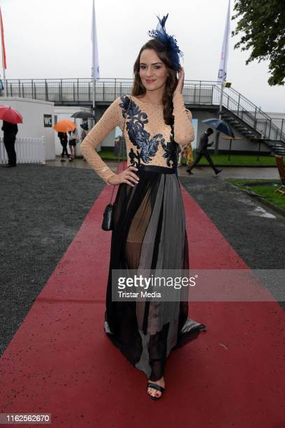 Lena Broeder attends the Audi Ascot Race Day at Neue Bult horse racing track on August 18 2019 in Langenhagen Germany