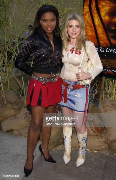 Lena Caldwell and Chea Courtney during Jeepers Creepers 2 Los Angeles Premiere in Hollywood California United States