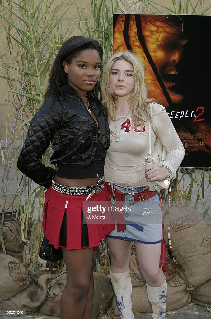 Lena Cardwell and Chea Courtney during 'Jeepers Creepers 2' Hollywood Premiere at The Egyptian Theatre in Hollywood, California, United States.
