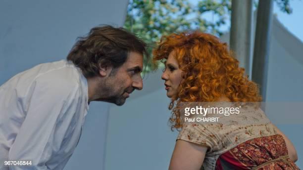 Lena Chamamyan et Andre Manoukian en concert au 'Parc Floral' le 17 juillet 2016, Paris, France.