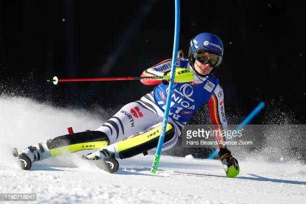 Lena Duerr of Germany competes during the Audi FIS Alpine Ski World Cup Women's Slalom on December 29, 2019 in Lienz Austria.