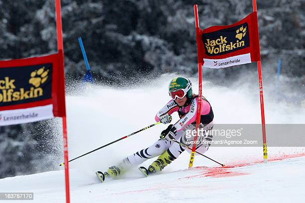 Lena Duerr of Germany competes during the Audi FIS Alpine Ski World Cup Nation's Team event on March 15 2013 in Lenzerheide Switzerland