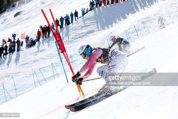 Lena Duerr of Germany competes during the Audi FIS Alpine Ski World Cup Finals Nation Team Event on March 17 2017 in Aspen Colorado