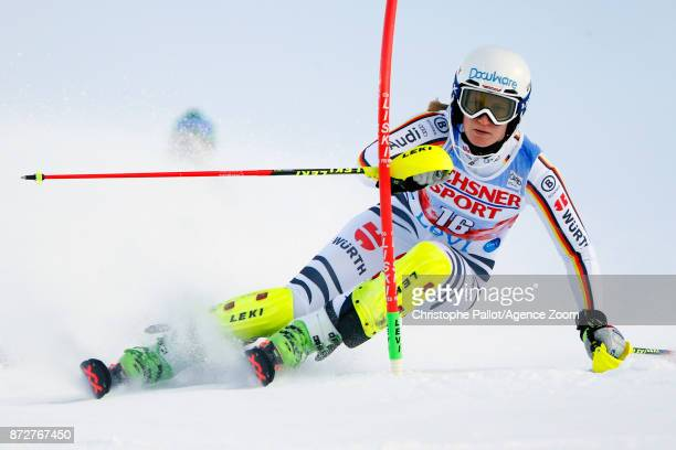 Lena Duerr of Germany competes during the Audi FIS Alpine Ski World Cup Women's Slalom on November 11 2017 in Levi Finland