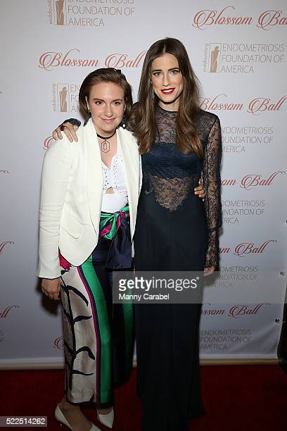 Lena Dunham and Allison Williams attend the 8th Annual Blossom Ball benefiting the Endometriosis Foundation of America at Pier Sixty at Chelsea Piers...