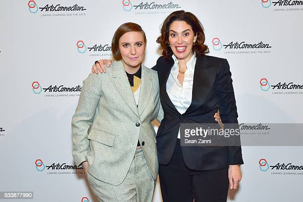 Lena Dunham and Amy Cappellazzo attend ArtsConnection 2016 Benefit Celebration at 583 Park Avenue on May 23 2016 in New York City