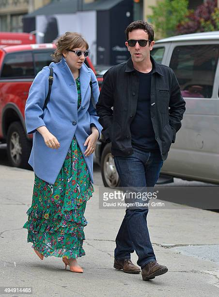 Lena Dunham and BJ Novak are seen on May 31 2014 in New York City