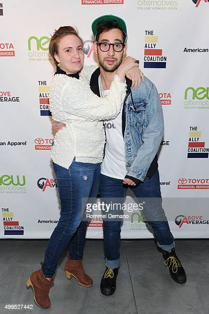Lena Dunham and Jack Antonoff attend The Ally Coalition Above Average's 2015 Talent Show at New World Stages on December 1 2015 in New York City