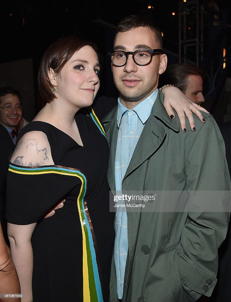 Lena Dunham and Jack Antonoff attend the 'Girls' season four series premiere after party at The Museum of Natural History on January 5, 2015 in New York City.