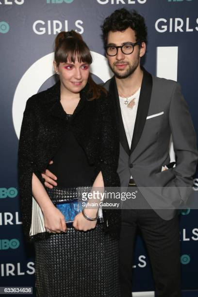"Lena Dunham and Jack Antonoff attend The New York Premiere of the Sixth & Final Season of ""Girls"" at Alice Tully Hall on February 2, 2017 in New York..."
