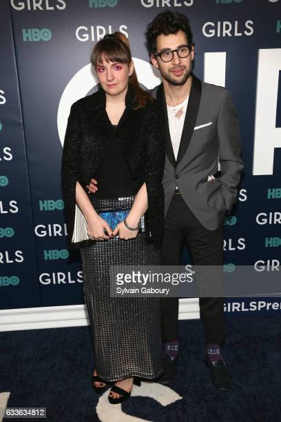 Lena Dunham and Jack Antonoff attend The New York Premiere of the Sixth Final Season of 'Girls' at Alice Tully Hall on February 2 2017 in New York...