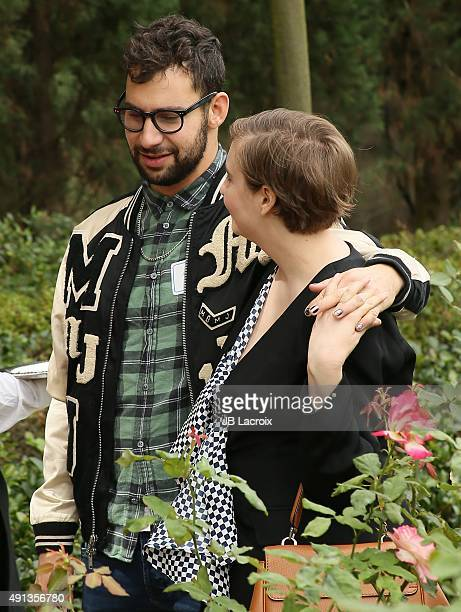 Lena Dunham and Jack Antonoff attend the Rape Foundation's Annual Brunch held at the Greenacres, the private estate of Ron Burkle, on October 4, 2015...